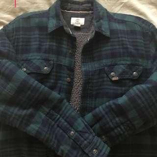 Timberland 格紋絨毛襯衫外套