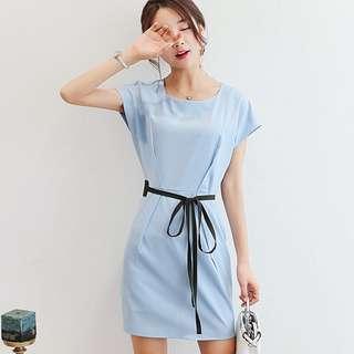 Pastel Coloured Ribbon Tie Korean Style Trendy Dress