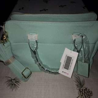 Pastel, Teal, Mint green Bag