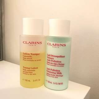 Clarins Cleanser and Toner