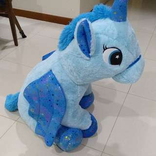 Unicorn Plush Stuffed Toy blue large