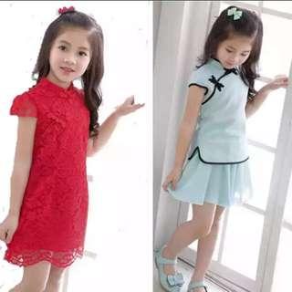 Girl Dress CNY - Blue only