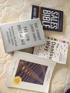 120K FOR 5 BUSINESS MANAGEMENT BOOKS