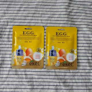Ekel Egg Korean Facial Mask
