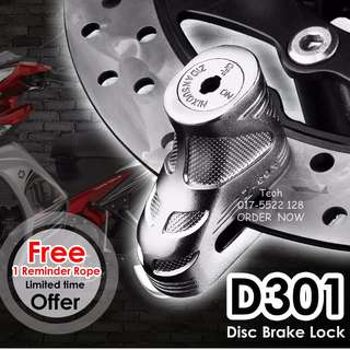 D301 Disc Brake Lock for motorbike - 100% Original Veison branded