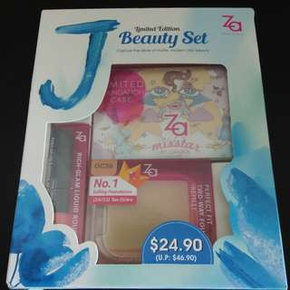 [Sale] Za authentic Limited Edition J Beauty Set $24.90 (U.P: $46.90)