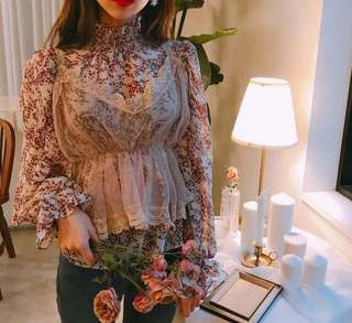 🌹INSTOCK Floral Two In One Korean Top