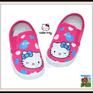 HELLO KITTY Hot Pink Girl's Slip-on Shoes - Rubber Soles