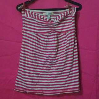 AMERICAN EAGLE OUTFITTERS  Pink and White Striped Tube