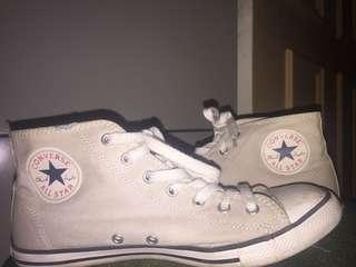 Grey/Cream High Top Converse