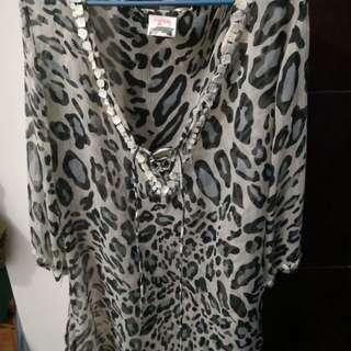 Swimwear cover up leopard design