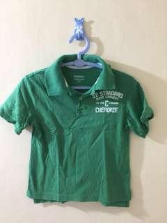 Cherokee green polo shirt