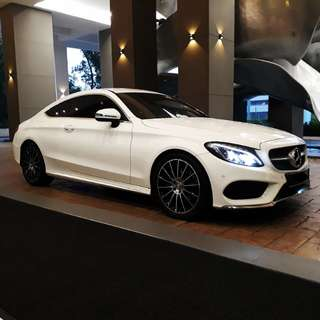 Mercedes Benz C250 coupe for rent