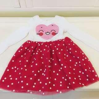 全新 H&M 小女生草莓點點蓬蓬裙 6Y-8Y 128cm  小女生愛的公主風紗紗蓬蓬裙