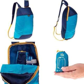 QUECHA ADULTS AND KIDS COMPACT AND ULTRA LIGHTWEIGHT 10 LITERS BACKPACK / DAYPACK