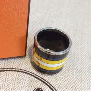 Hermes Silk Ring Holder 絲巾圈 絲巾扣 愛馬仕 真品 未使用 絲巾鎖