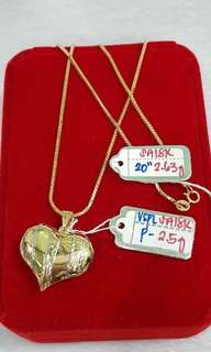 gold hearts necklace