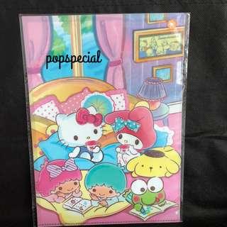Last PCS Left My Melody Kerokeropi Hello Kitty Pompompurin Little Twin Stars A4 Clear File