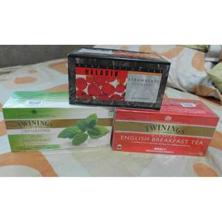 Premium Tea: Twinings English Breakfast Tea, Peppermint and Heladiv Pure Ceylon Tea
