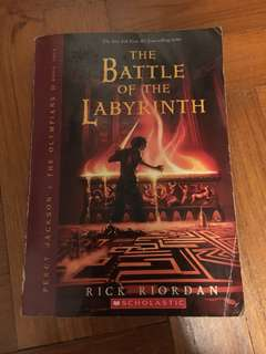 Percy Jackson The Battle of the Labyrinth book 4 (scholastic) by Rick Riordan