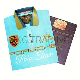Paper Craft Mens Polo T Set / 纸扎男士衬衫配套