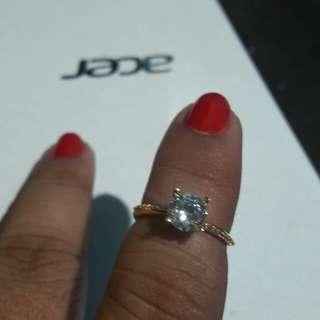 18k saudi gold ring size 5.5