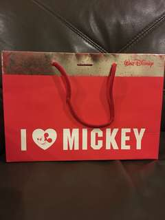 Watt Disney Mickey Mouse Paper Bag