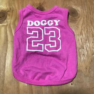 Doggy pink singlet