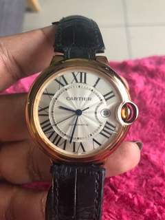 Cartier rose gold vintage watch