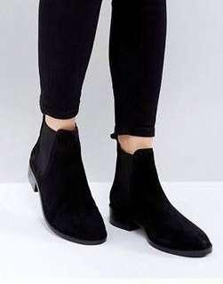 Bershka velvet boots