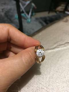 18k Gold filled Ladies ring size 7