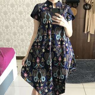 Dark Blue Batik Dress