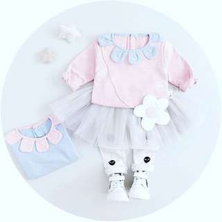 2 pcs Girl Legging Dress