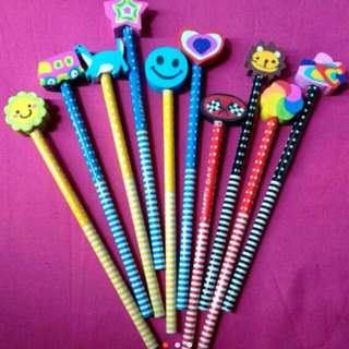 10 Pcs Pencil With Cute Eraser