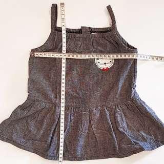 Greyish-blue Jumper Dress - 9months old