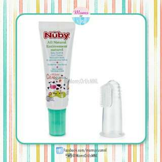 ‼️NEW‼️ NÛBY Infant Toothpaste w/ Silicone Finger Brush