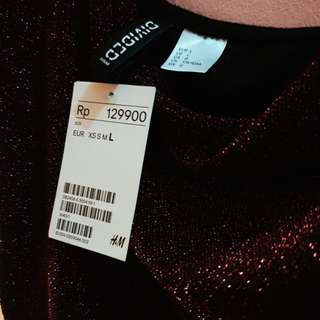 [FREEONG] H&M glittery crop top