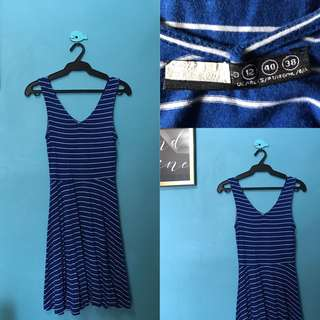Stripes Blue Dress