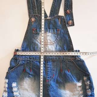 Denim overall dress - 1yo