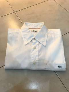 Lacoste Short Sleeve Shirt (White)