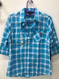 buttoned polo shirt