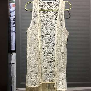 Fringe Crochet Lace Coverup