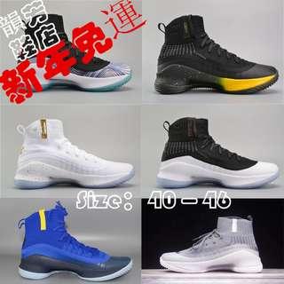 爆款新品安德瑪UA庫裏4代震撼出貨 庫裏4代籃球鞋白金高幫戰靴Curry 4.0套襪男鞋