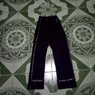 Highwaisted Crystal Sides Black Trousers