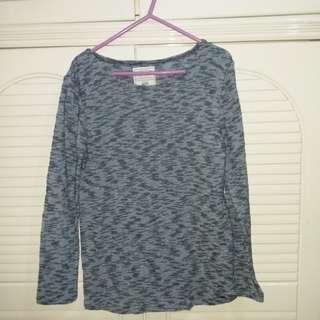 全新 大童(teens)黑藍色長袖上衣 衫長25寸 闊16.5寸size 152-158