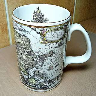 Asia Vintage Map Design Mug ( The Admiralty Collection) Fine Bone China,  Made In England.