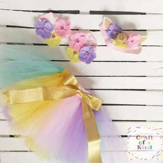 MTO Unicorn tutu skirt (set)