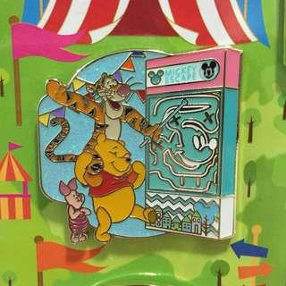 香港 迪士尼 限量版 小熊維尼 跳跳虎 徽章