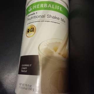 Herbalife nutritional shake mix.