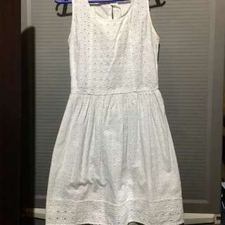 Crochet Lace White Dress